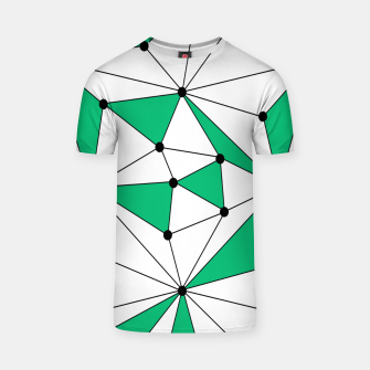 Abstract geometric pattern - green and white. T-shirt thumbnail image