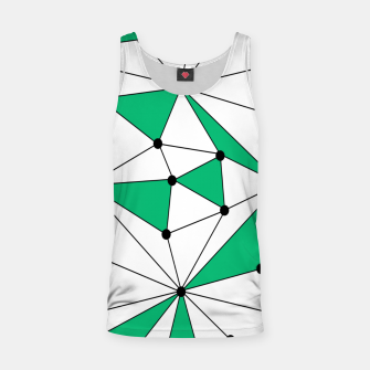 Abstract geometric pattern - green and white. Tank Top thumbnail image