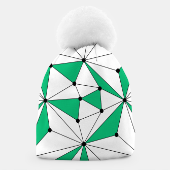 Abstract geometric pattern - green and white. Beanie thumbnail image