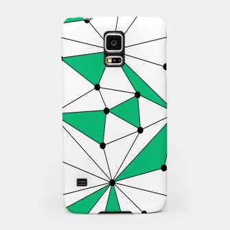Abstract geometric pattern - green and white. Samsung Case thumbnail image