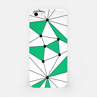 Abstract geometric pattern - green and white. iPhone Case thumbnail image