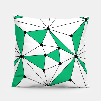 Abstract geometric pattern - green and white. Pillow thumbnail image