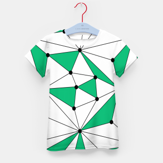 Abstract geometric pattern - green and white. Kid's t-shirt thumbnail image