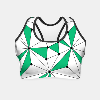 Abstract geometric pattern - green and white. Crop Top thumbnail image