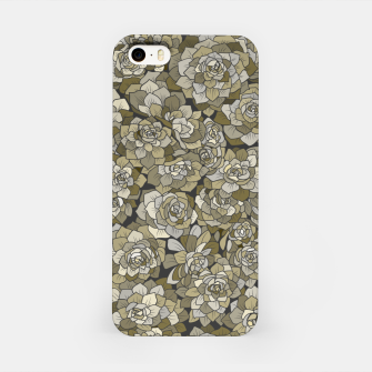 Miniatur Succulents garden in green grey iPhone Case, Live Heroes