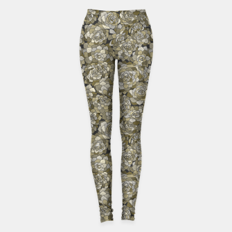 Miniatur Succulents garden in green grey Leggings, Live Heroes