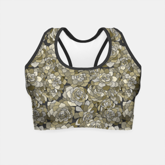Miniatur Succulents garden in green grey Crop Top, Live Heroes