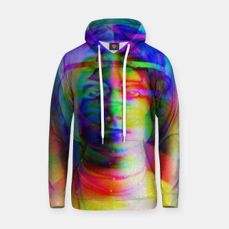 Imagen en miniatura de Glitch art colourful rainbow woman portrait Hoodie, Live Heroes