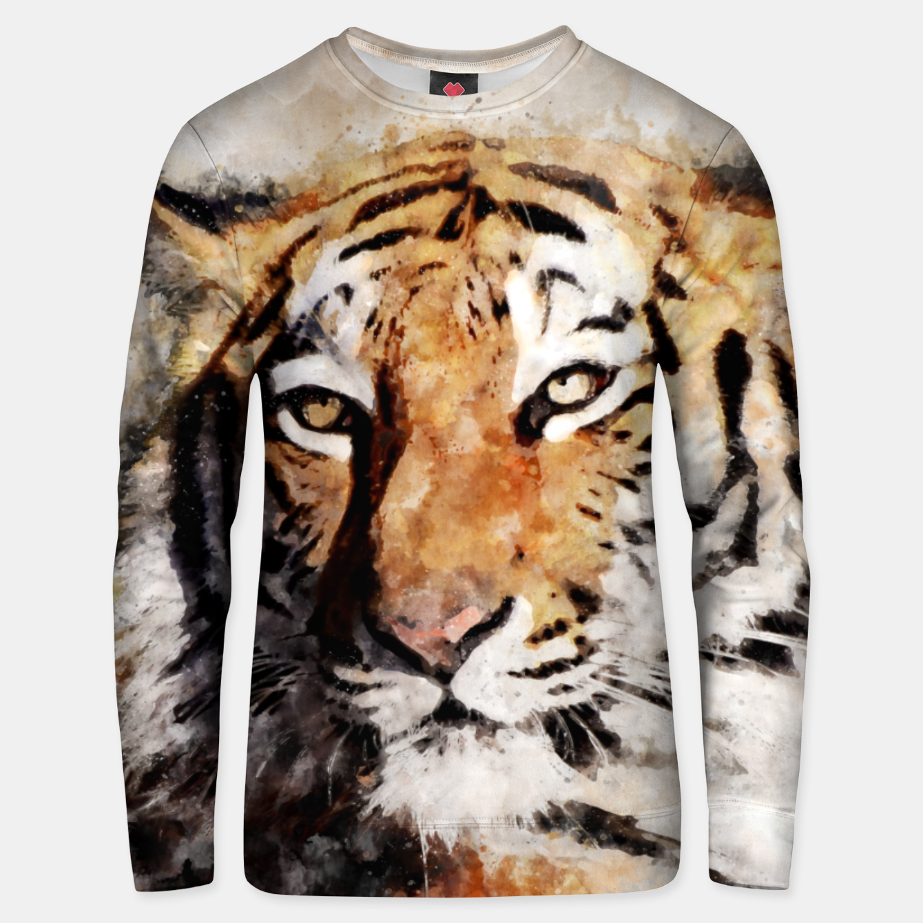 Image of Watercolour tiger portrait Unisex sweater - Live Heroes