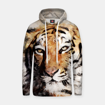 Thumbnail image of Watercolour tiger portrait Hoodie, Live Heroes