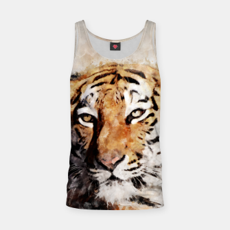 Thumbnail image of Watercolour tiger portrait Tank Top, Live Heroes