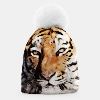Thumbnail image of Watercolour tiger portrait Beanie, Live Heroes