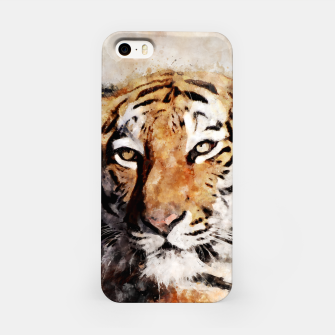 Thumbnail image of Watercolour tiger portrait iPhone Case, Live Heroes