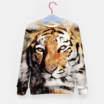 Imagen en miniatura de Watercolour tiger portrait Kid's sweater, Live Heroes