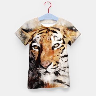 Imagen en miniatura de Watercolour tiger portrait Kid's t-shirt, Live Heroes