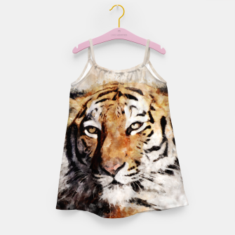 Imagen en miniatura de Watercolour tiger portrait Girl's dress, Live Heroes