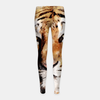 Imagen en miniatura de Watercolour tiger portrait Girl's leggings, Live Heroes