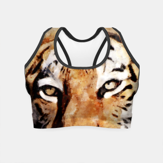 Imagen en miniatura de Watercolour tiger portrait Crop Top, Live Heroes