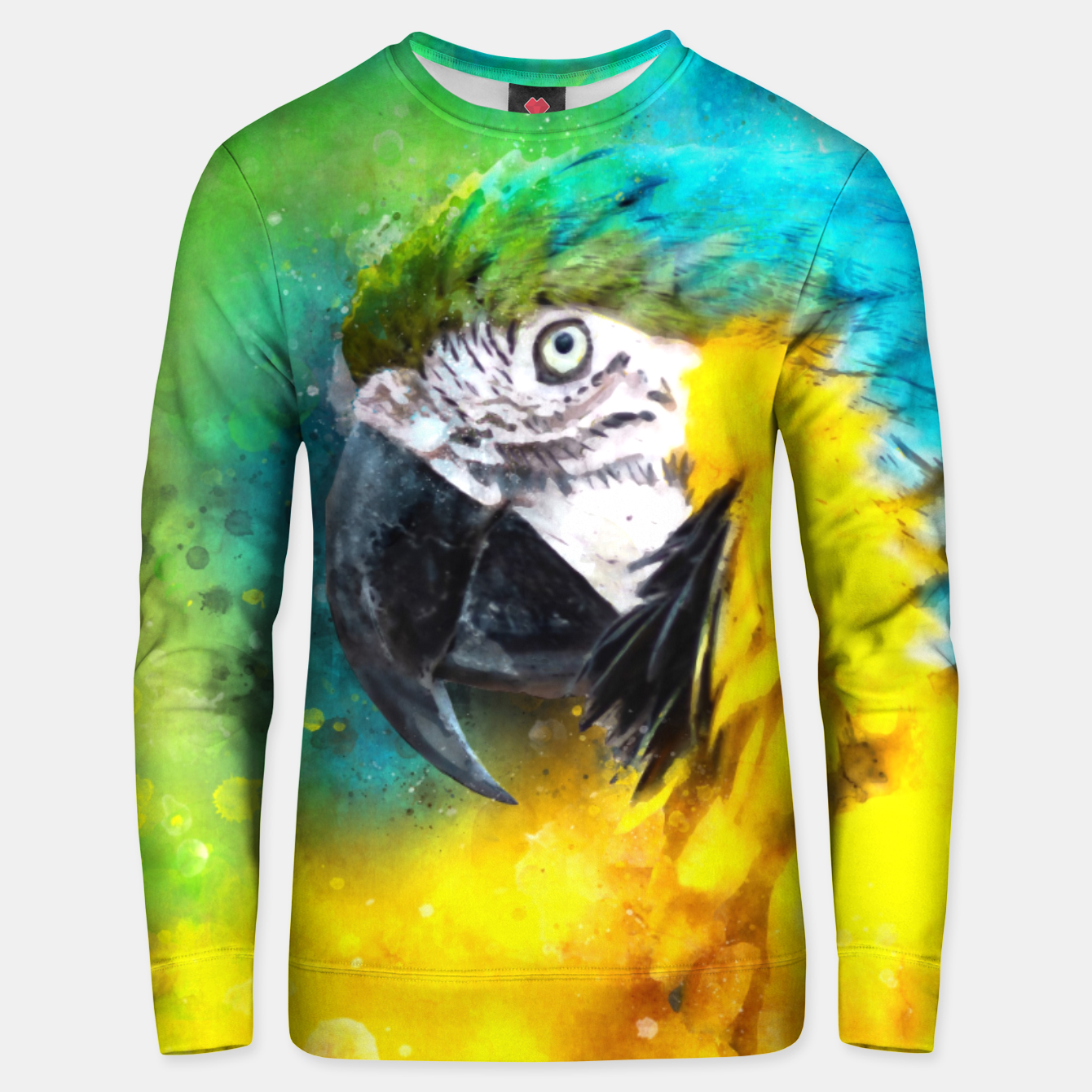Image of Watercolor Macaw Parrot Watercolour Painting Unisex sweater - Live Heroes