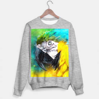 Imagen en miniatura de Watercolor Macaw Parrot Watercolour Painting Sweater regular, Live Heroes