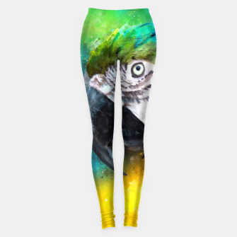 Imagen en miniatura de Watercolor Macaw Parrot Watercolour Painting Leggings, Live Heroes