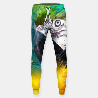 Imagen en miniatura de Watercolor Macaw Parrot Watercolour Painting Sweatpants, Live Heroes