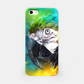 Imagen en miniatura de Watercolor Macaw Parrot Watercolour Painting iPhone Case, Live Heroes