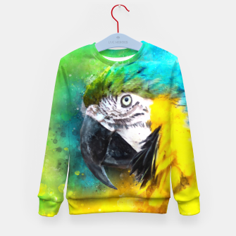 Imagen en miniatura de Watercolor Macaw Parrot Watercolour Painting Kid's sweater, Live Heroes