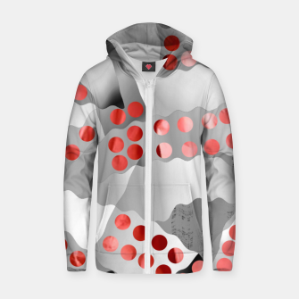 Thumbnail image of Red Drops  Zip up hoodie, Live Heroes