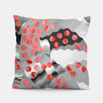 Thumbnail image of Red Drops  Pillow, Live Heroes