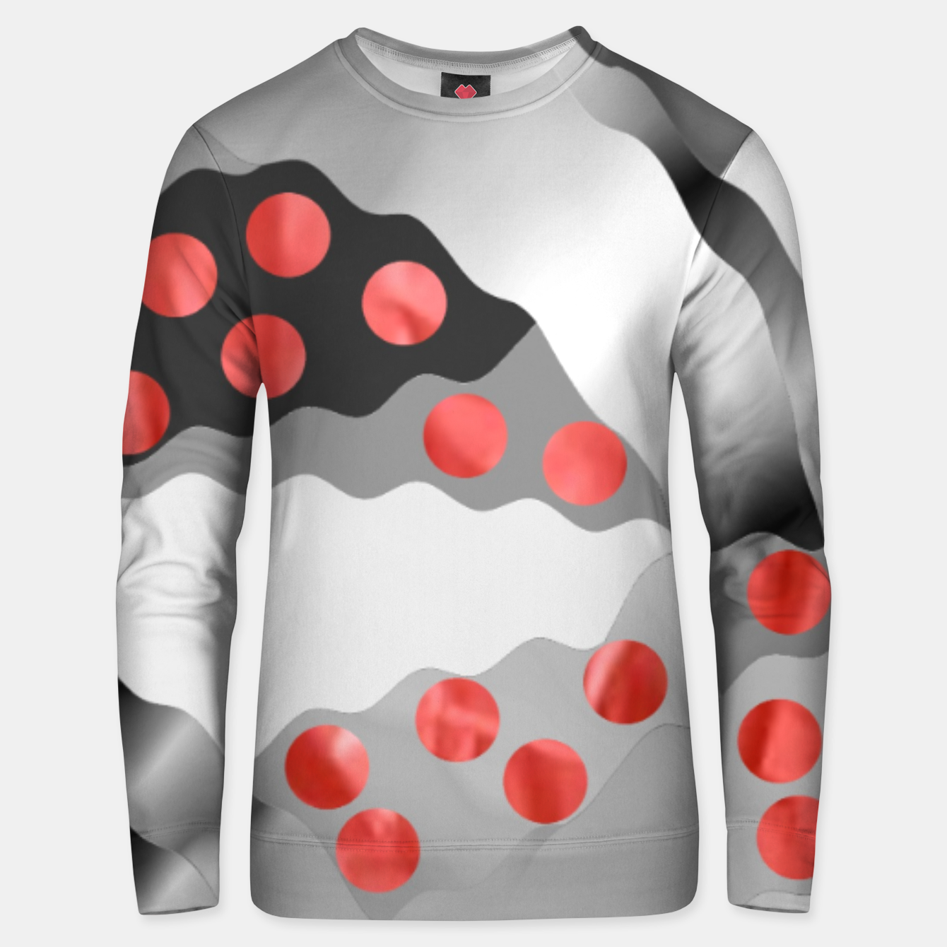 Image of Red Drops  Unisex sweater - Live Heroes