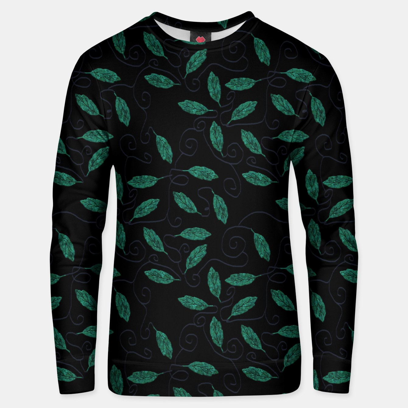 Image of Copper Leaves Gray Vines Unisex sweater - Live Heroes