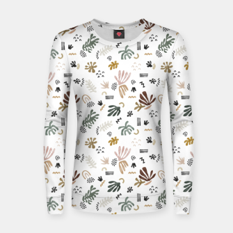 Abstract simple nature shapes Sudadera para mujeres Bild der Miniatur