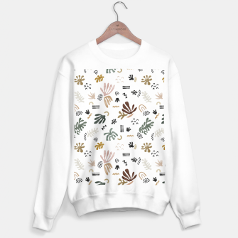 Abstract simple nature shapes Sudadera regular Bild der Miniatur