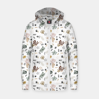 Thumbnail image of Abstract simple nature shapes Sudadera con capucha y cremallera , Live Heroes