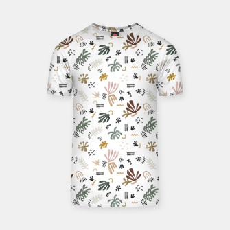 Abstract simple nature shapes Camiseta Bild der Miniatur