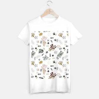 Miniatur Abstract simple nature shapes Camiseta Regular, Live Heroes