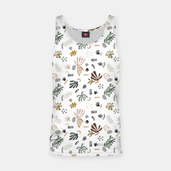 Abstract simple nature shapes Camiseta de tirantes miniature
