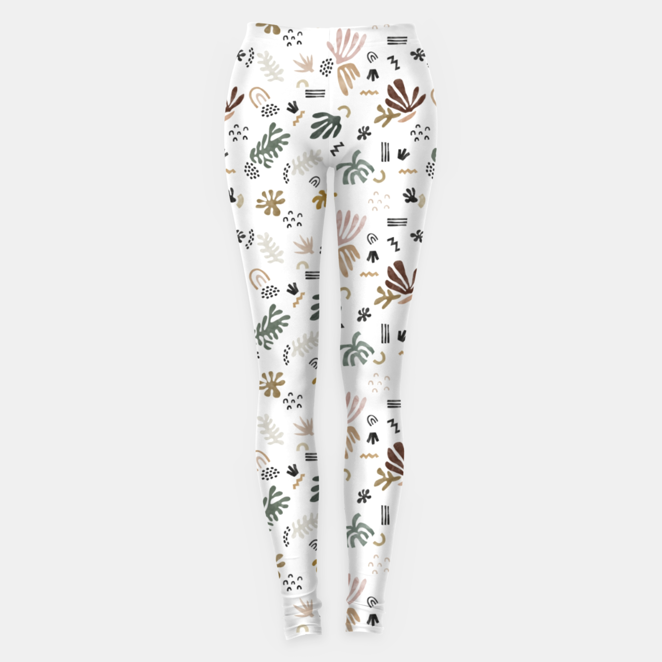Image of Abstract simple nature shapes Leggings - Live Heroes