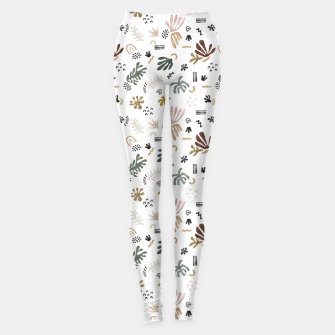 Miniature de image de Abstract simple nature shapes Leggings, Live Heroes