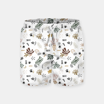 Abstract simple nature shapes Pantalones de baño miniature
