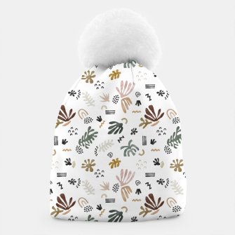 Abstract simple nature shapes Gorro miniature