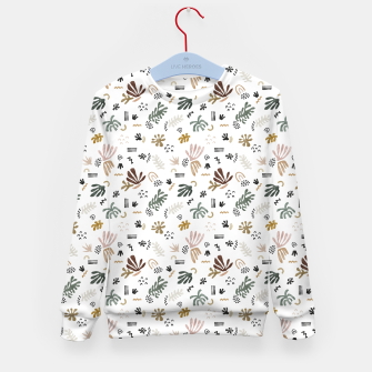 Abstract simple nature shapes Sudadera para niños miniature