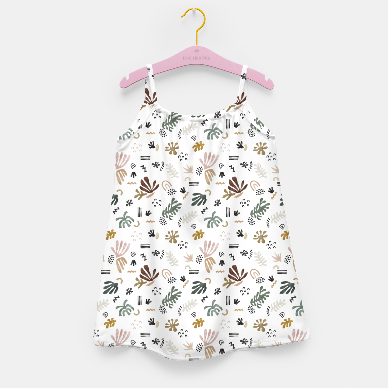 Image of Abstract simple nature shapes Vestido para niñas - Live Heroes