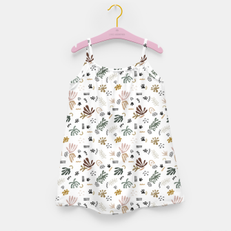Abstract simple nature shapes Vestido para niñas Bild der Miniatur