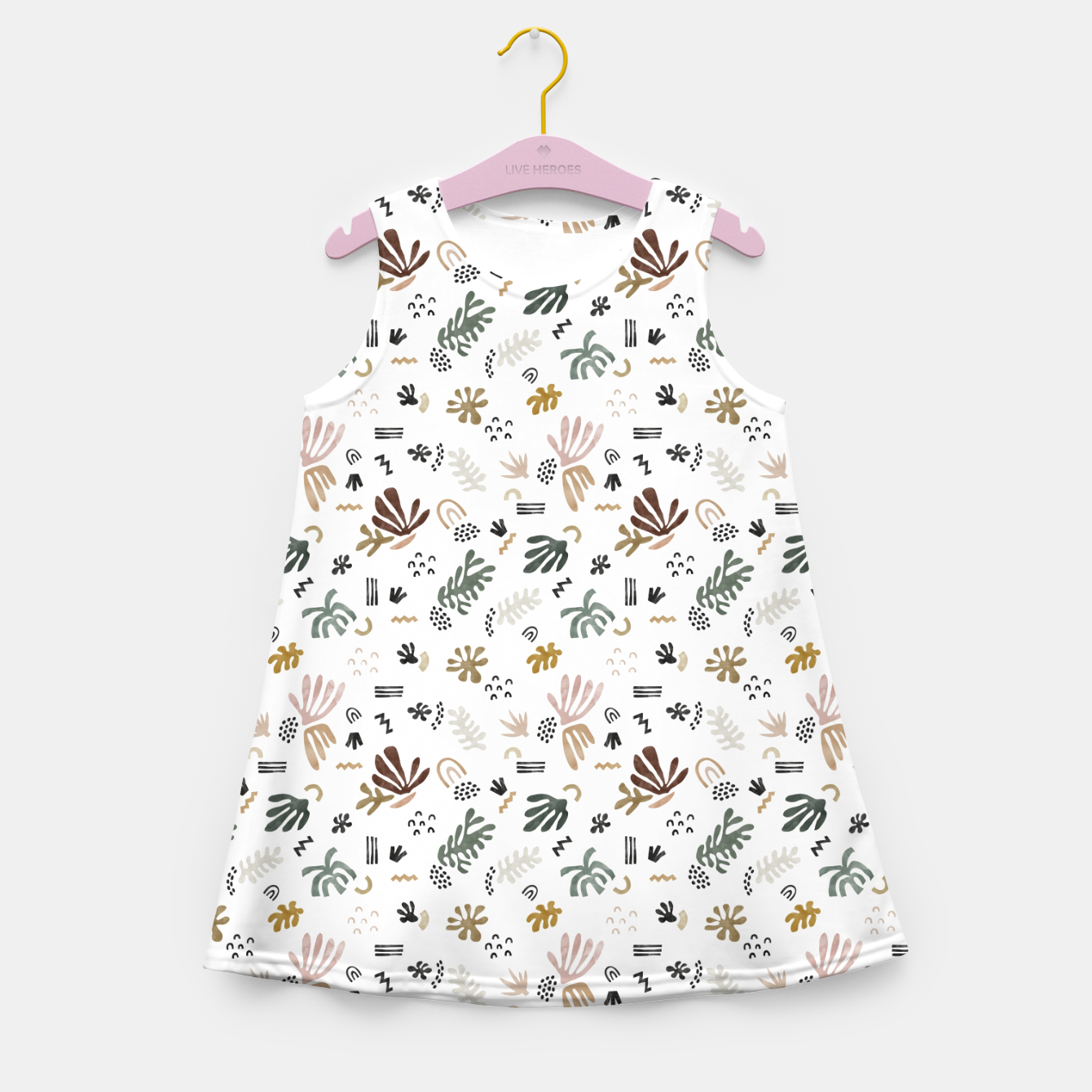 Image de Abstract simple nature shapes Vestido de verano para niñas - Live Heroes