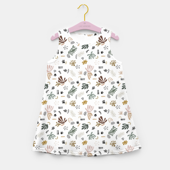 Miniatur Abstract simple nature shapes Vestido de verano para niñas, Live Heroes