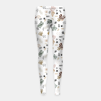 Abstract simple nature shapes Leggings para niña Bild der Miniatur
