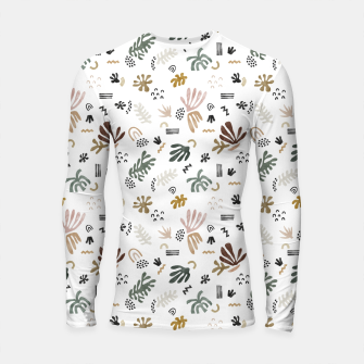 Abstract simple nature shapes Longsleeve rashguard Bild der Miniatur