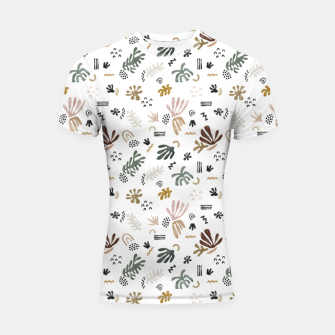 Miniatur Abstract simple nature shapes Shortsleeve rashguard, Live Heroes